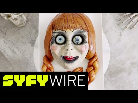 Annabelle Cake Tutorial from The Conjuring by Koalipops | SYFY WIRE thumbnail