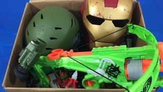 Box of Toys Nerf Zombie Strike Ironman Military Toys