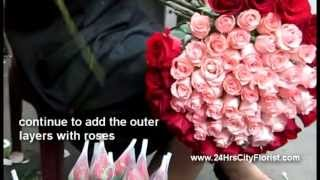 How To Arrange A 99-stalk Rose Bouquet