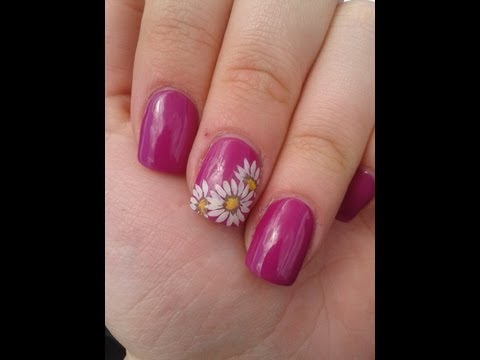 Floral Print Nail Art How to