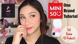 MINISO ONE BRAND TUTORIAL - FULL REVIEW over 10 Products