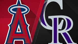 Angels smack 3 homers to power past Rockies: 5/9/18