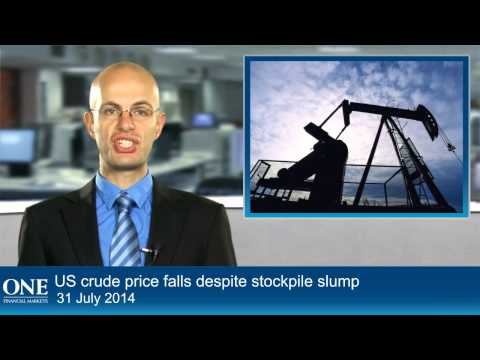 US crude price falls despite stockpile slump