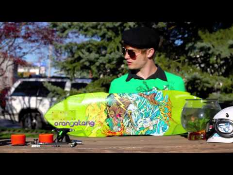 Gear Overview  2012 Landyachtz Wolf Shark, Orangatang 80a Balut, Bear 852 Trucks, Seismic Tekton Bea