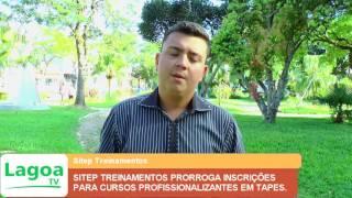 SITEP TREINAMENTOS PRORROGA INSCRIÇÕES PARA CURSOS PROFISSIONALIZANTES EM TAPES