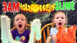 How to Make Halloween Slime! Do Not Try This at 3AM!! *Ultimate Slime Contest* GLOWS IN THE DARK!!!