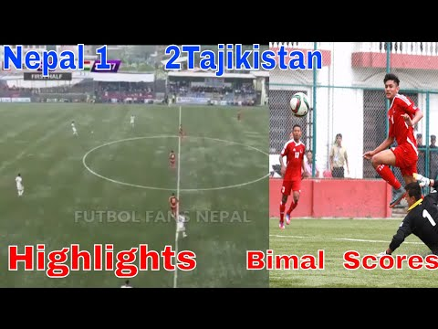 Nepal VS Tajikistan 1-2 ★ Highlights ★ AFC Asian Cup Qualification 2019