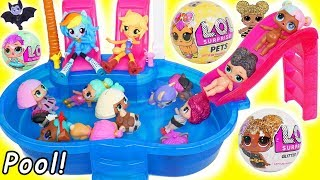 L.O.L. Surprise! Dolls Glitter Pets at Pool with My Little Pony