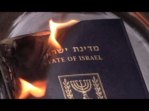 'End the occupation!' British woman burns her Israeli passport