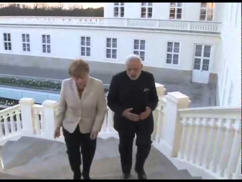 PM Modi with German Chancellor Angela Merkel in Hannover