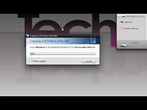 How to Install Windows Vista/7/8 from a USB Flash Drive - TechneekTV