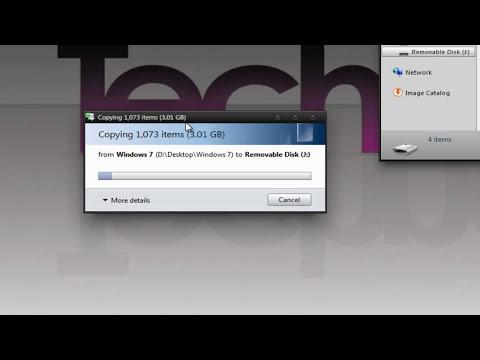 How to Install Windows Vista/7/8 from a USB Flash Drive - TechneekTV