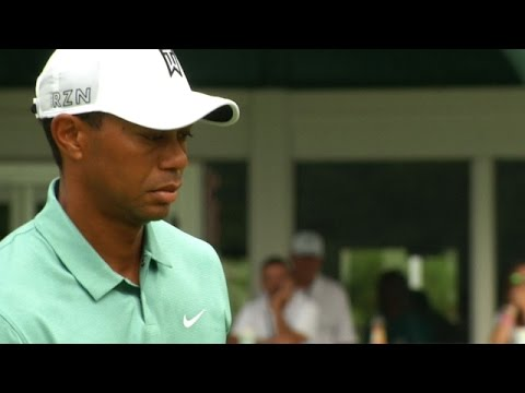 Tiger Woods makes double bogey at The Greenbrier