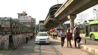 Sector 18 metro station from front of GIP mall, Noida