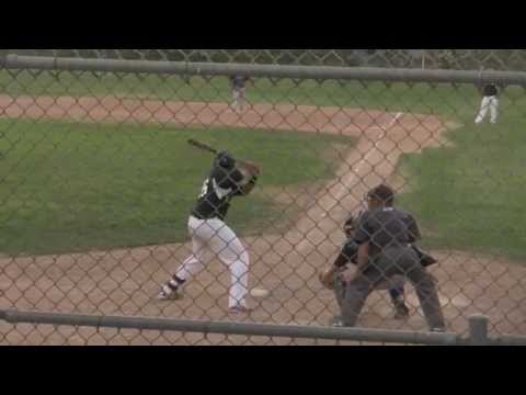 Nkosi Djehuti-Mes blasts massive two-run home run for the Atwater Aviators (Golden State Collegiate Baseball League) against the Sacramento Legends at the Fi...