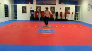 Exciting Taekwondo exercises, speed and agility