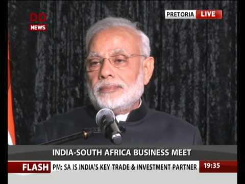 PM Modi addresses India-South Africa Business Meet