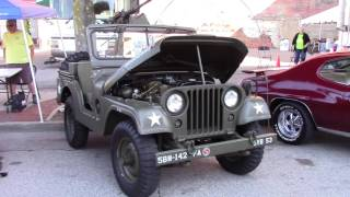 Restored 1953 Willys M38A1 Jeep, Trailer & Guns.