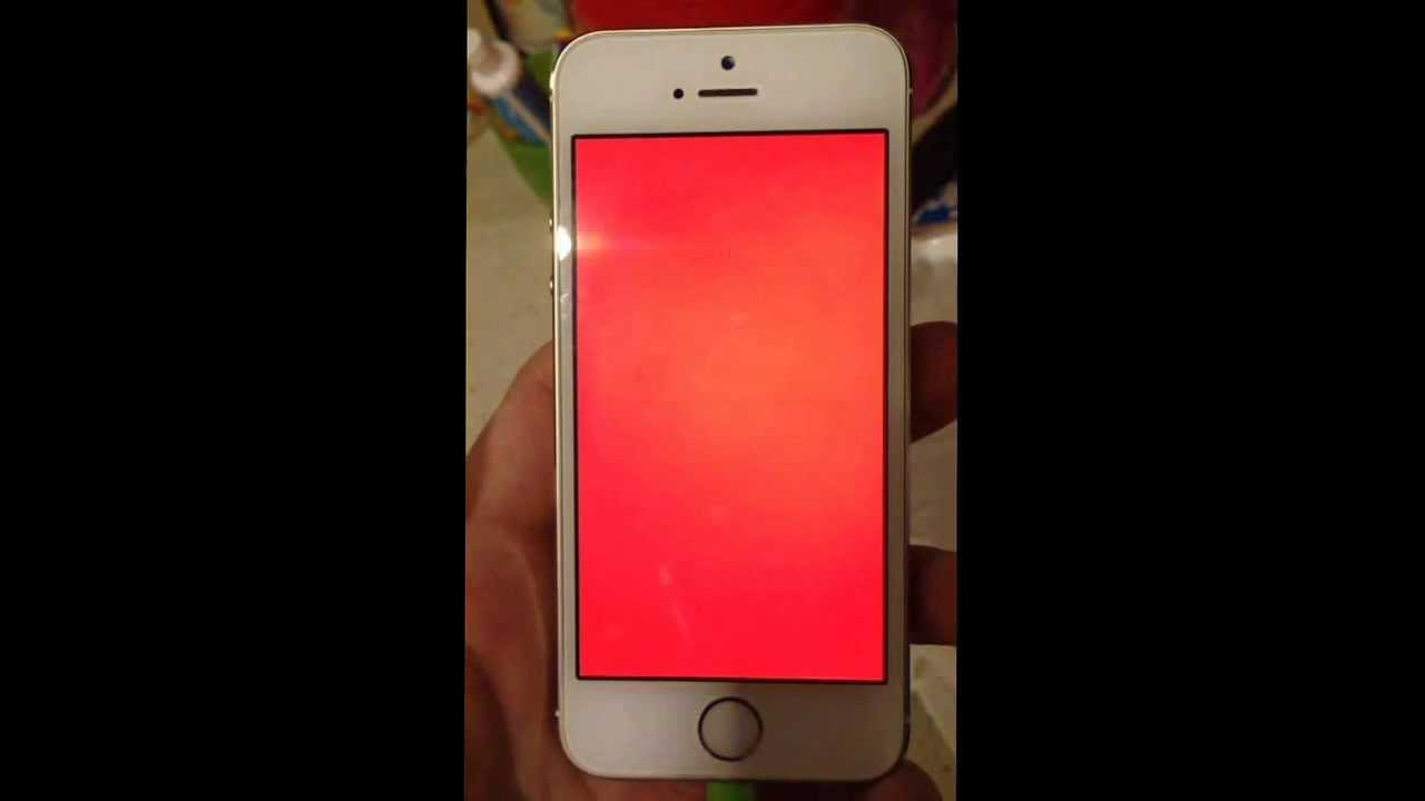 Death Screen Iphone 4 Iphone 5s Red Screen of Death