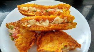 नए तरीके का नास्ता ब्रेड से, jhatpat nasta recipe, Bread recipe hindi, bread pakora banane ki vidhi