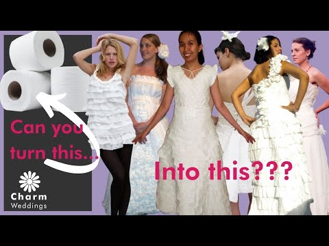 Cheap Chic Weddingscom Toilet Paper Wedding Dress Contest