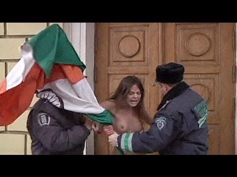 Ukrainian women rage against Indian prostitute