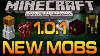 Minecraft (Xbox 360): NEW MOBS - Blaze, Magma Cube, Snow Golem, Villagers, & Mooshroom (1.0.1) [TU7]