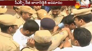 హైదరాబాద్: రాహుల్  గాంధీ టూర్ లో రచ్చ రచ్చ
