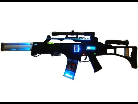 Homemade G36 Coilgun Future Energy Weapon