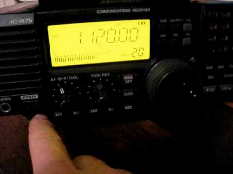Icom R-75, MW DXing Sample