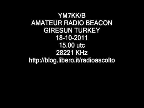 YM7KK/B AMATEUR RADIO BEACON GIRESUN TURKEY