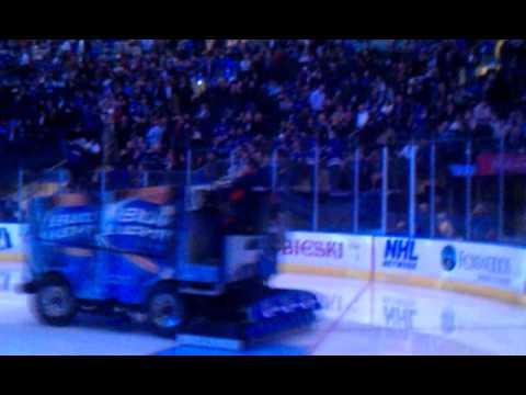 Tori Hall Zamboni Ride Rangers Opening Nite.3gp video