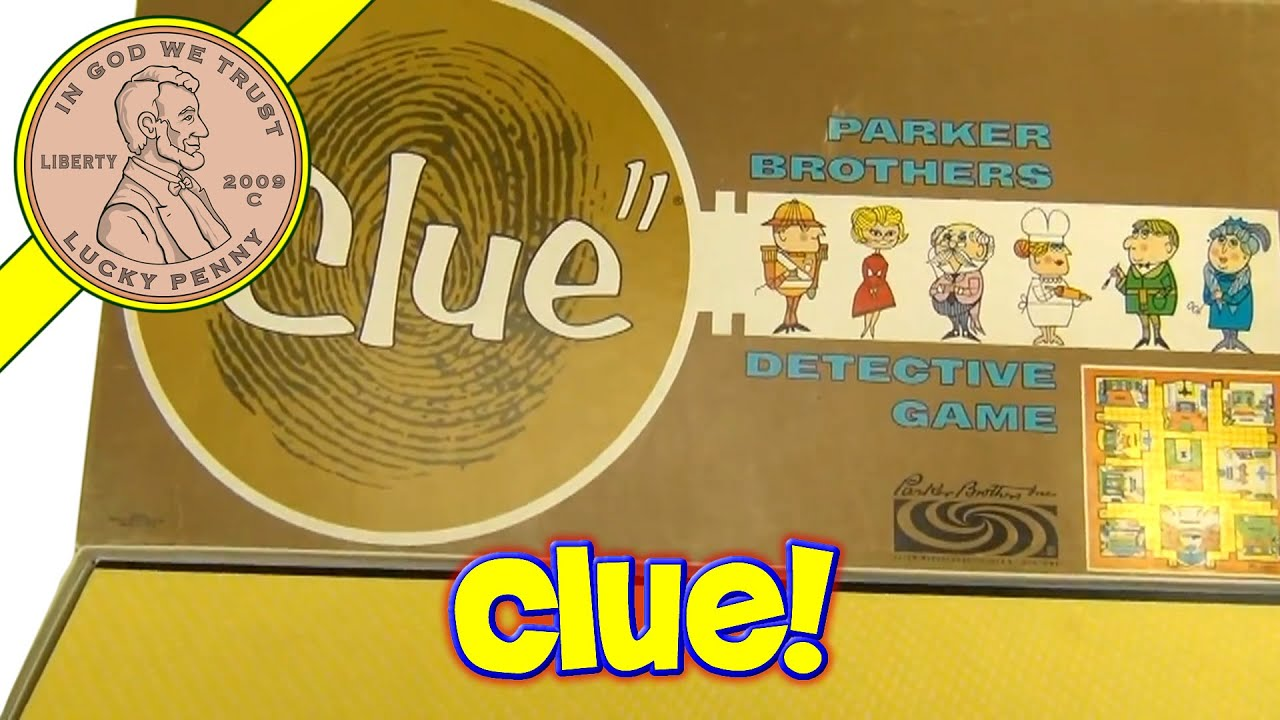 Vintage 1963 Clue Detective Board Game from Parker Brothers - YouTube