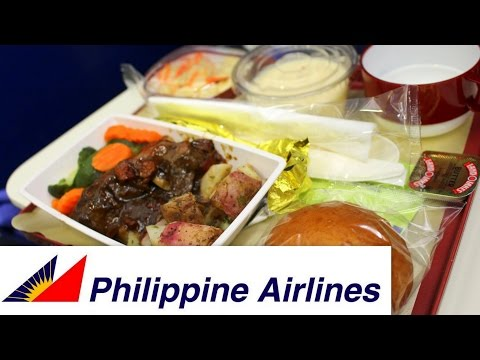 Philippine Airlines FOOD VLOG/MUKBANG