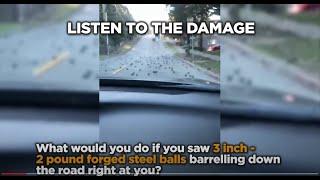 Semi Truck Spills it's load of 44,000 lbs of Steel Forged Balls
