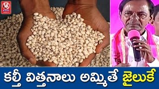 CM KCR Warns Fake Seed Vendors In State | TRS Plenary Meet | V6 News