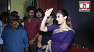 Actress Nayanthara Visit Rohini Theatre for Aramm Promotions | Cinema5d |C5D