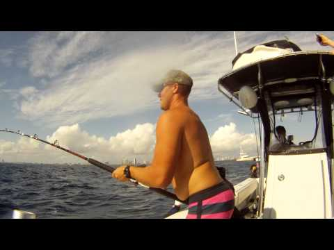 Team Wide Open Fishing Fun Sail Fishing off Palm Beach 1/20/2013 (HD)