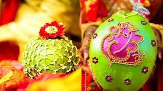 Latest decorative idea of coconut for wedding || kobbari bondam decoration