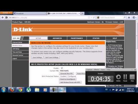 como cambiar la contraseña o nombre del modem d-link