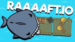 DOOMED BY SHARKS! - Raaaaft.io Game - New io game!