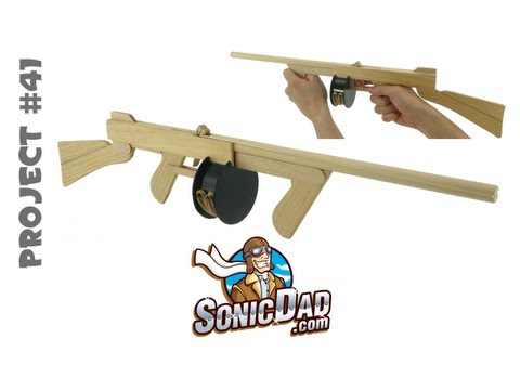 How to Make a Sonic Tommy Rubber Band Gun - SonicDad Project #41