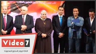 بالفيديو.. جامعة عين شمس تكرم سامح حسين وإيمان السيد