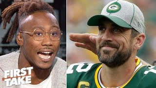Brandon Marshall downplays Aaron Rodgers' heated exchange with coach Matt LaFleur | First Take