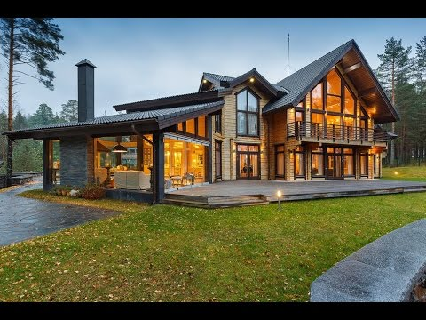 Интерьер дома из клееного бруса. Проекты из клееного бруса.