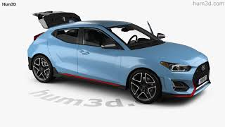 Hyundai Veloster N with HQ interior 2018 3D model by Hum3D.com