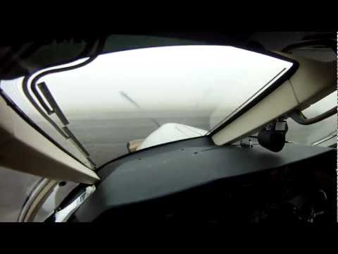 Pilatus Pc 12 Fog Takeoff  Gopro Pilot's View, No Music