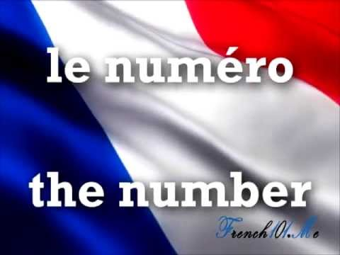 The Numbers in French part 2 from