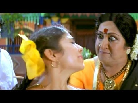 Pournami Scene - Step Mother Giving Punishment To Chandrakala...