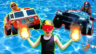 Little Heroes 43 - The Spark, The Fire Engine and Toy Trucks in The Pool